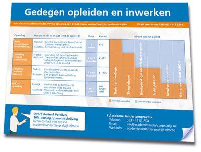 Download de brochure - Gedegen opleiden met de Academie Tandartsenpraktijk