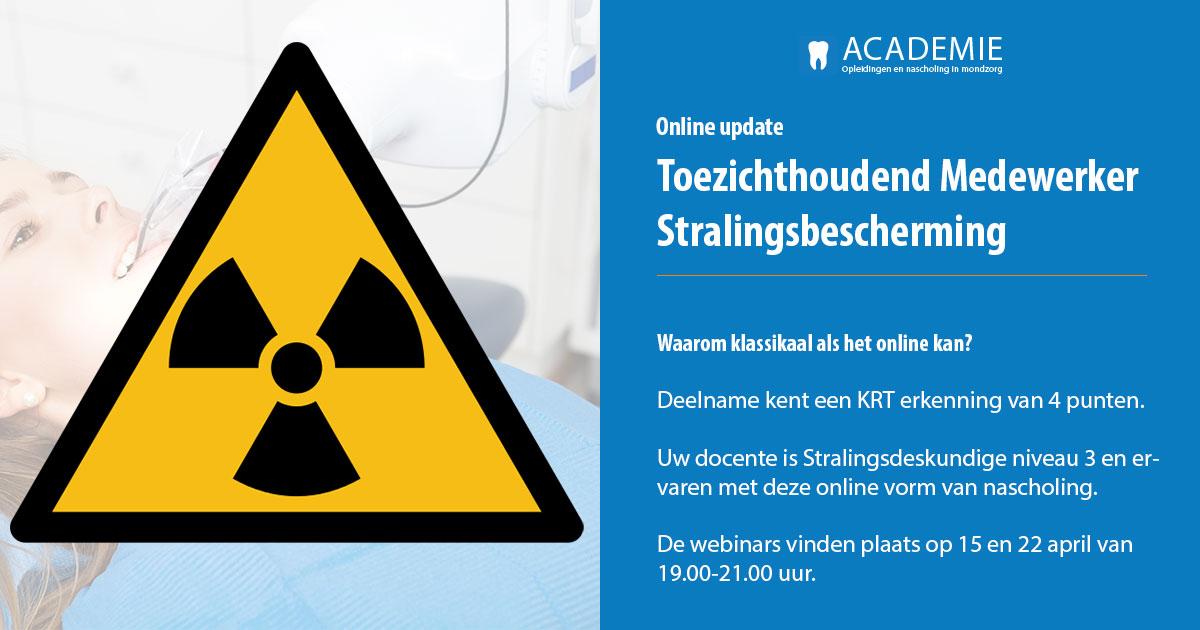 Academie Tandartsenpraktijk - update Toezichthoudend Medewerker Stralingsbescherming Online